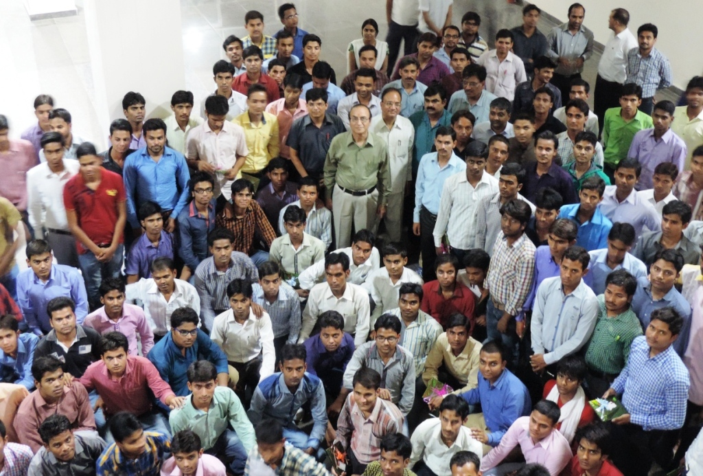 Hon'ble VC, Dr. S. L. Goswami with students  of First Batch-2011, 6th June 2015