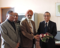 Welcome of Hon'ble VC, Dr. S. L. Goswami by Founder VC, Dr. M.S. Aulakh, 2nd March 2015